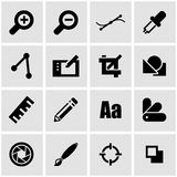 Vector black graphic design icon set Royalty Free Stock Image