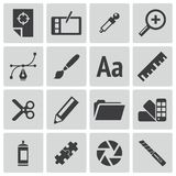Vector black  graphic design  icons Stock Images