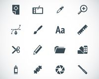 Vector black  graphic design  icons Royalty Free Stock Photos