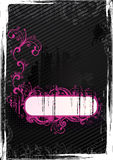 Vector Black Grunge Wallpaper With Frame Royalty Free Stock Image