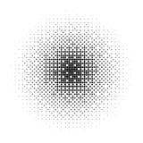 Vector black halftone effect made of rhombuses on white background. Vector black halftone effect made of rhombuses on white background Stock Illustration