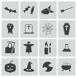 Vector black  halloween icons Stock Photo