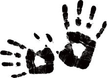 Vector black handprint Stock Photo