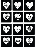 Vector black hearts Royalty Free Stock Photos