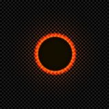 Vector Black Hole, Isolated on Dark Background Shining Ilustration, Black Circle. vector illustration