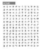 Vector black home appliances icons set Royalty Free Stock Photography