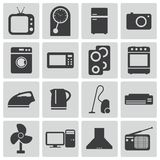 Vector black  home icons Royalty Free Stock Photo