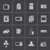 Vector black  home icons set Royalty Free Stock Photos