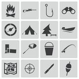 Vector black  hunting icons Royalty Free Stock Photo