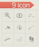 Vector black hunting icons set Royalty Free Stock Images