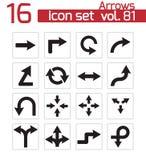 Vector black icon arrows Stock Photo