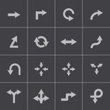 Vector black icon arrows icons Stock Photos