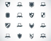 Vector black icon shield icons Royalty Free Stock Images