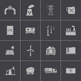 Vector black  industry icons set Stock Image