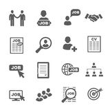 Vector black job search icons set Stock Photography