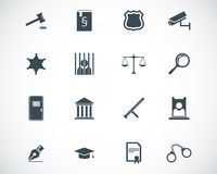 Vector black justice icons Stock Photos