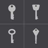 Vector black key icons set Stock Image