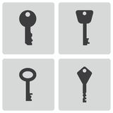 Vector black key icons set Royalty Free Stock Photos