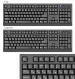 Vector Black Keyboards. With ENG and ENG/RUS letters Stock Photos