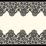 Vector Black Lace Borders. Seamless Pattern. Royalty Free Stock Images