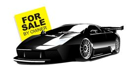 Vector of black lamborghini gallardo for sale Royalty Free Stock Photos