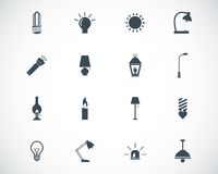 Vector black light icons Royalty Free Stock Photos