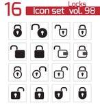 Vector black  lock  icons Stock Image