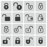 Vector black  lock  icons Royalty Free Stock Image