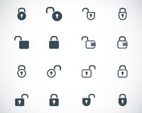Vector black  lock  icons Royalty Free Stock Images