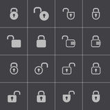 Vector black  lock  icons set Royalty Free Stock Images