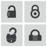Vector black lock icons set Stock Photos