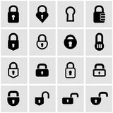 Vector black locks icon set Royalty Free Stock Photo