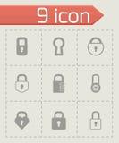 Vector black locks icons set Stock Photos
