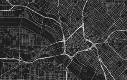 Vector black map of Dallas royalty free illustration