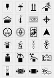 Vector black  marking cargo  icons Stock Images