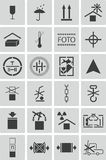 Vector black  marking cargo  icons Stock Photos