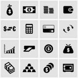 Vector black money icon set Royalty Free Stock Photos