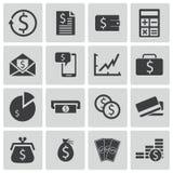 Vector black  money icons. Set Stock Photos