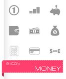Vector black money icons set Stock Photo