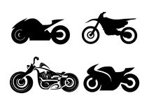 Vector black motorcycles Stock Image