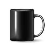 Vector Black mug cup isolated. On white background Stock Image