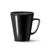 Vector Black mug cup isolated. On white background Royalty Free Stock Photo