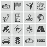 Vector black navigation icons Royalty Free Stock Photo