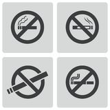 Vector black no smoking icons set Royalty Free Stock Photo
