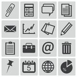 Vector black  office icons Stock Photography