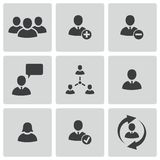 Vector black office people icons set vector illustration