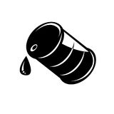 Vector black oil barrel icon Royalty Free Stock Image