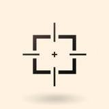 Vector Black Aim Icon. Vector Black Optical Sight Aim Icon Royalty Free Stock Photography