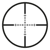Vector Black Optical Sight. Aim Icon on White Background Stock Photo