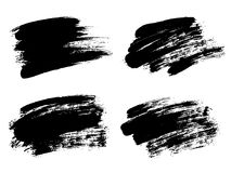 Vector black paint, ink brush stroke, brush, line or texture. Di Royalty Free Stock Image